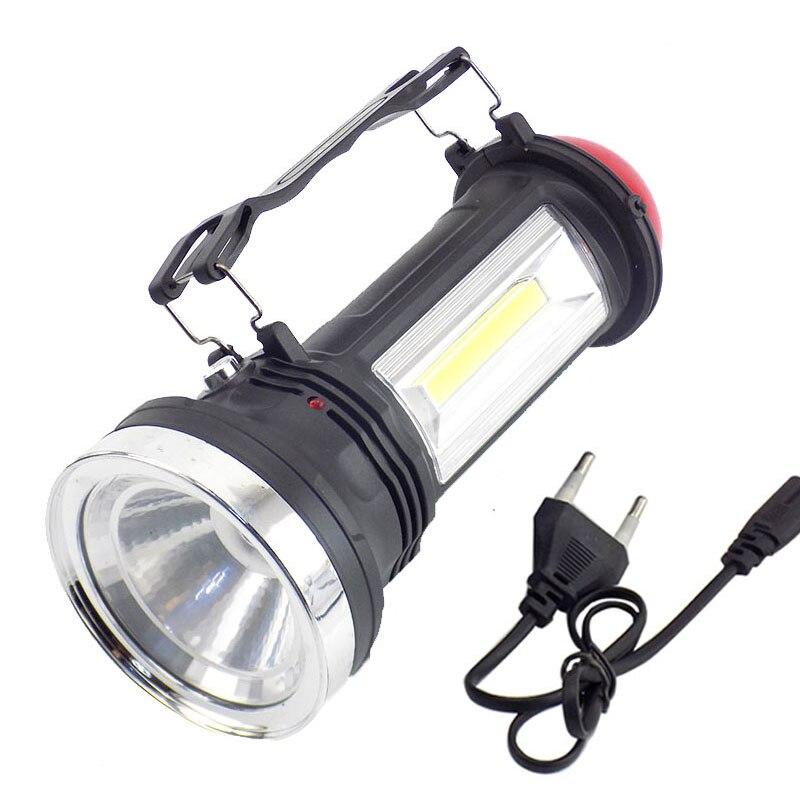 Portable Solar Power led lampe de Poche Chargeur batterie intégrée LED Torche À La Main lampe Lanterne Camping Lumières pour la Randonnée De Pêche