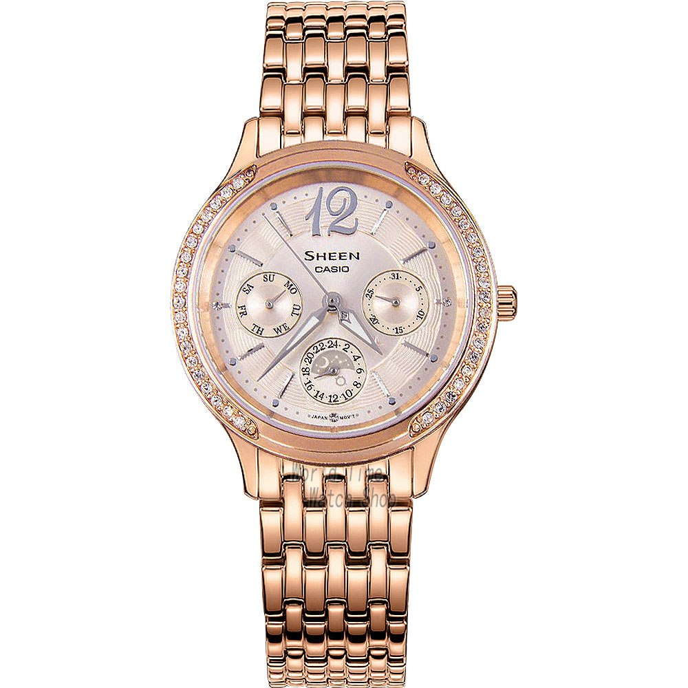 Casio watch Casual business waterproof quartz female watch three - style steel ladies watch SHE-3030PG-9A SHE-3030SG-7A