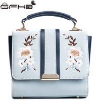 Famous Brands Women Handbag Autumn Winter Embroidery Flower Bag Michaeled Handbags Fashion Style Leather Crossbody Bags