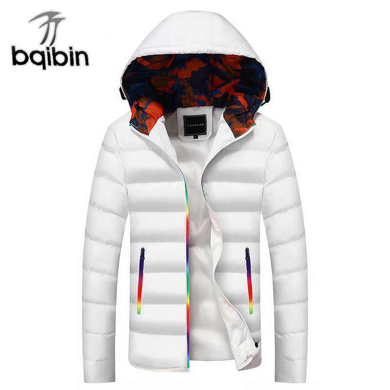2018 Новое поступление зимняя куртка мужская повседневная теплая с капюшоном  пальто Модные мужские куртки и пальто 72c1e5a5348