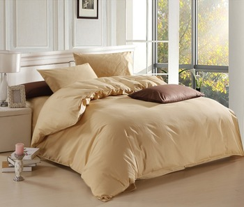 New Camel color theme high quality home bedding set, 2 pillow case, 1 bed sheet and 1 duvet cover bed cover