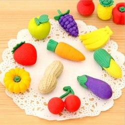 1X Cartoon radiergummi schöne früchte und gemüse modellierung radiergummi kinder schreibwaren geschenk preise kawaii büro schule liefert
