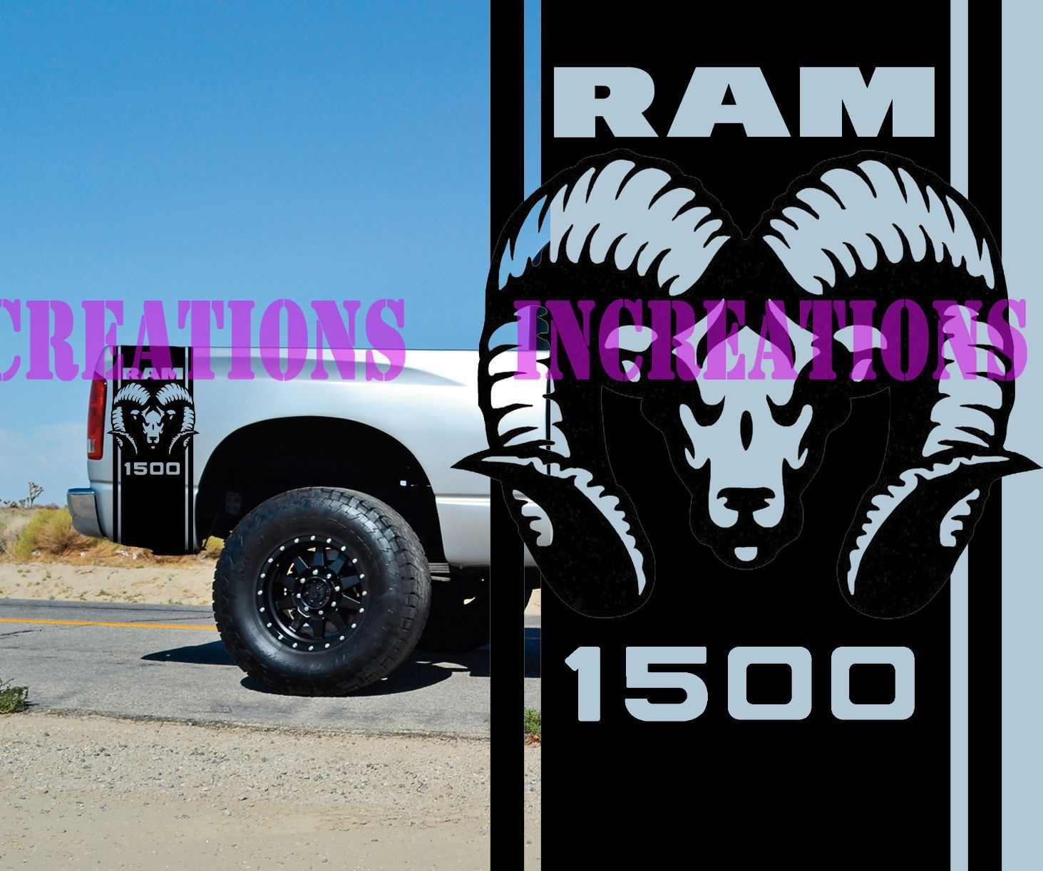 For Universal 1set 2pcs Hemi Dodge Ram 1500 Bed Stripes Truck Decals Mopar Stickers Set Of 2 Racing Car Stickers Aliexpress