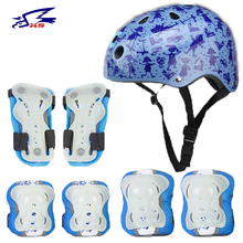 XS Volleyball Bicycle Helmet Skating Protective Gear 7Pcs Set for Kids Basketball Ice Skating Knee Protector