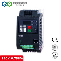Free Shipping - Best Selling 0.75KW Frequency Inverter/1 Phase 220V input 3 phase 220V output 4.5A