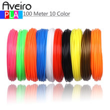 New Arrival 3D Printing Pen PLA Printer Materials 10 Meter 10 Color 1.75MM Threads Plastic Filament For 3 D Drawing Pens(China)