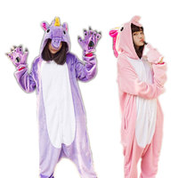 Adults Pajamas Sleepwear All In One Pyjama Animal Suits Women Winter Homewear Cute Animal Pegasus Unicorn