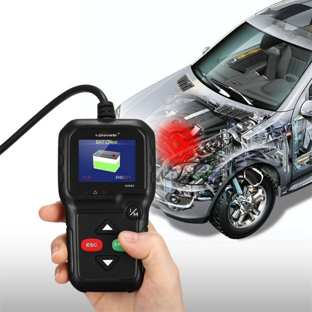 CARPRIE Instrument Tool 2019 hot sale KW680 OBD2 Viecar Car Code Reader Diagnostic Scan Tool Multi Languages high quality 9624