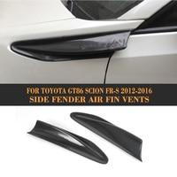 Лидер продаж автомобилей сторона Fender планки углеродного волокна вентиляционное отверстие для Toyota GT86 Scion FR S 2012 2016