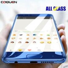 COQUEN For Huawei P10 Lite Tempered Glass Full Cover Blue P9 P8 Lite 2017 Nova 3e P20 Lite
