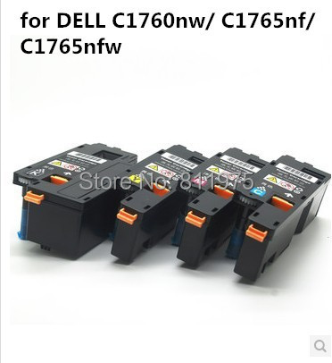 Compatible For Dell C1760nw/ C1765nf/ C1765nfw Printer Color Toner Cartridge 332-0407 332-0408 332-0409 332-0410