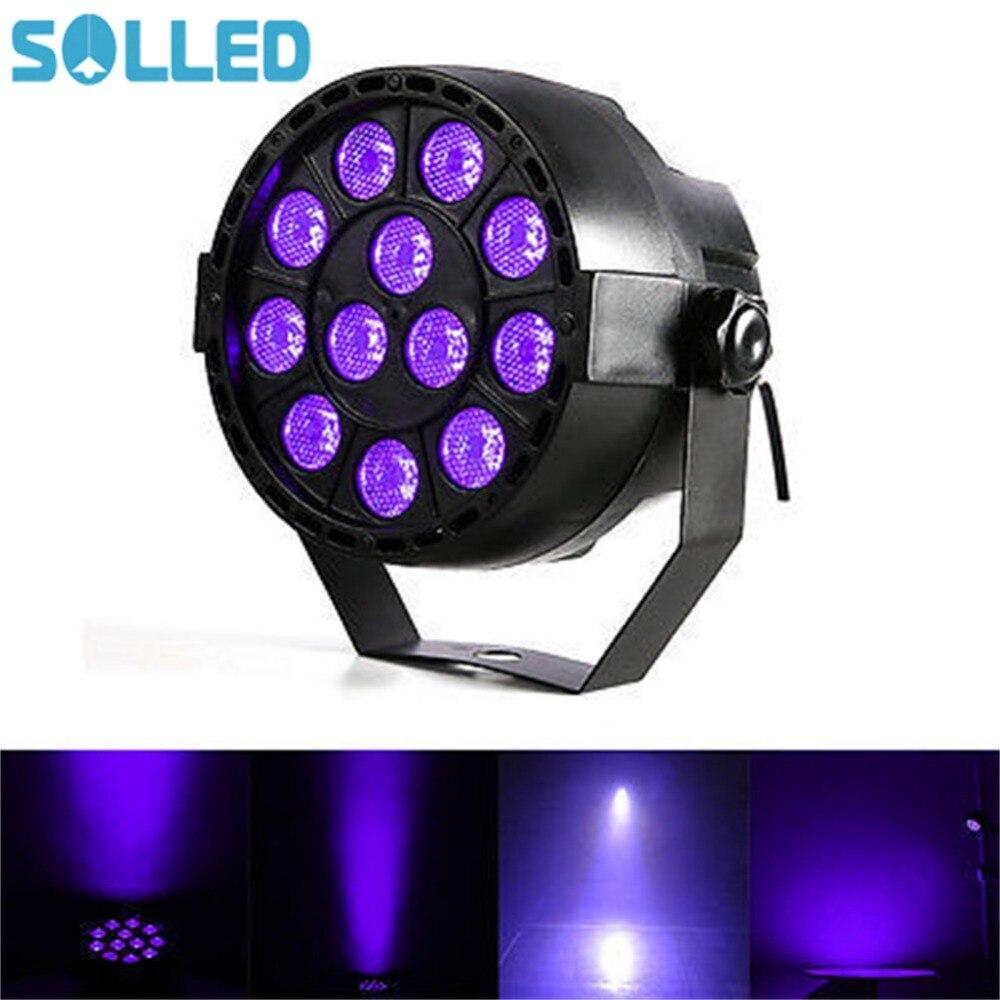 SOLLED 12LED Capteur Sonore Projection Lampe UV Violet Lumière Stage de Lumière pour le Club DJ Afficher Parti Salle De Bal Bandes
