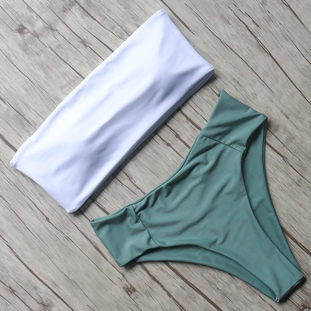 HTB1wS10a5nrK1Rjy1Xcq6yeDVXar Print Swimwear Women Swimsuit High Waist Brazilian Bikini 2019 Sexy Off Shoulder Bikinis Set Beachwear Maillot De Bain Femme