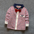 New baby clothing boys shirts spring 2017 kids classic polka dots plaid print cotton shirts for boys 6-24 months !