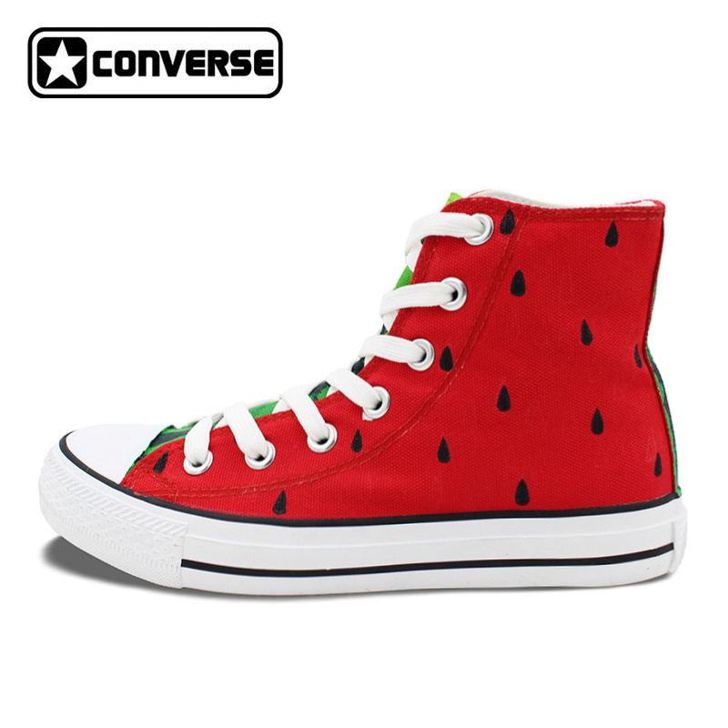 Original Design Hand Painted Shoes Converse Chuck Taylor Watermelon Girls Boys High Top Canvas Sneaker Gifts for Men Women цена