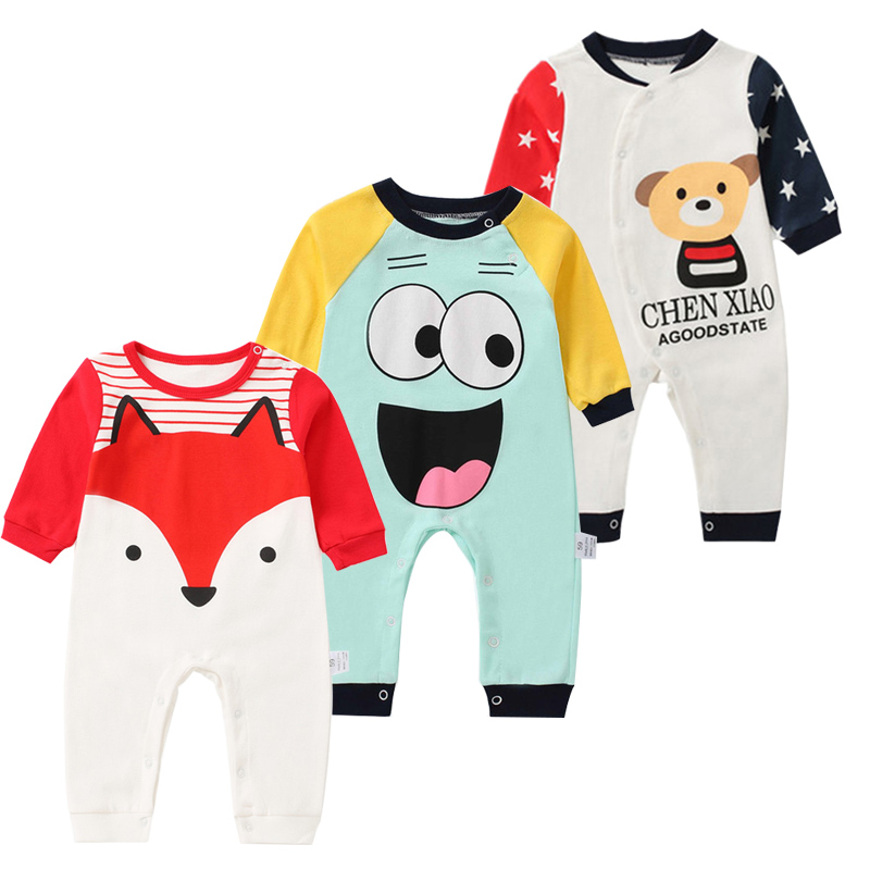 Spring Baby Rompers Cotton Newborn Baby Clothes Baby Boy Clothes Baby Girl Clothes Bebe Clothing Roupas Bebe Infant Jumpsuits