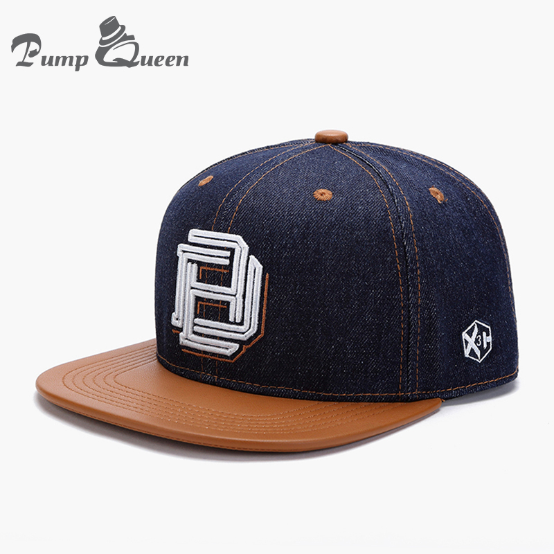 Pump Queen New Men Cap Flat Brim Cotton Baseball Cap Men Women Bone Letters Embroidery Hats Sport Hip-hop Snapback Cap Hats xthree summer baseball cap snapback hats casquette embroidery letter cap bone girl hats for women men cap