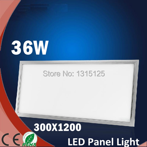 5PCS/lot  Led Panel Light 300x1200 36W Ultraplate Square Ceiling Lights Decor For Home Kitchen Leds Painel Lamp +free shipping