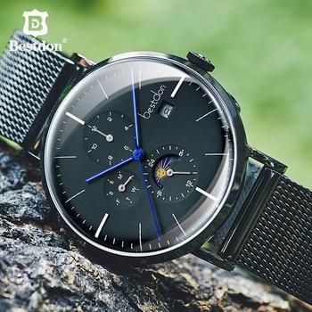 Bestdon, reloj líquido para hombre, transparente, automático, mecánico, resistente al agua, relojes de pulsera Daydate, fase lunar, marca de lujo Suiza