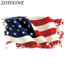 ZOTOONE Diy Morale Patch  Custom Iron on Patches for Clothing Flag Heart Transfers Kids Clothes E