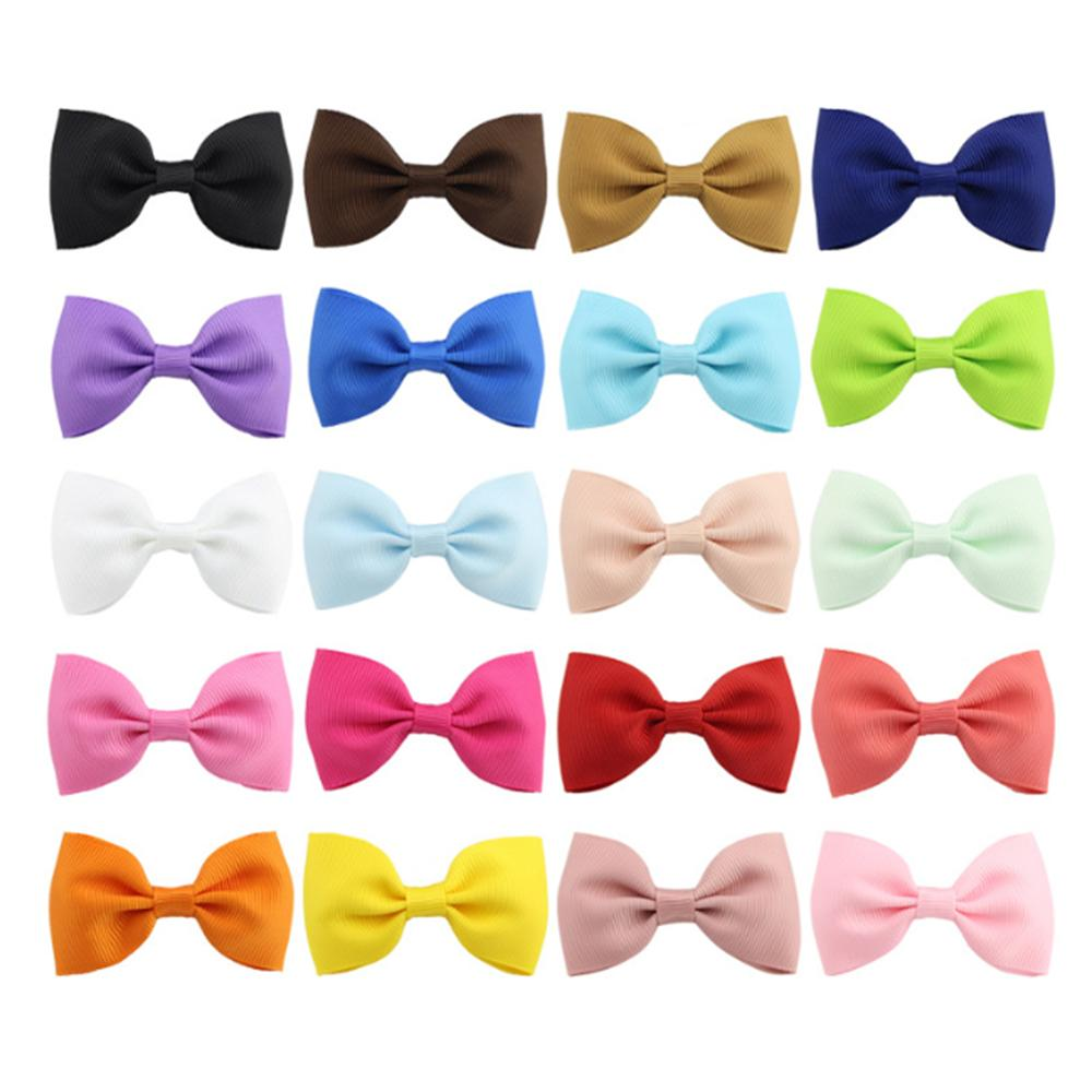 20pcs Cute Bow Tie Hairclip Simple Style Princess Hair Clip Cute Hairpin Baby Hair Decorations
