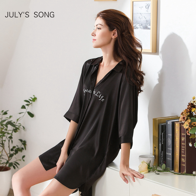 JULY'S SONG Woman Sleepwear Robe Stain Faux Silk Sexy Large Size Night Robe Loose Bathrobe Wedding Bride Bridesmaid Robe Pajamas