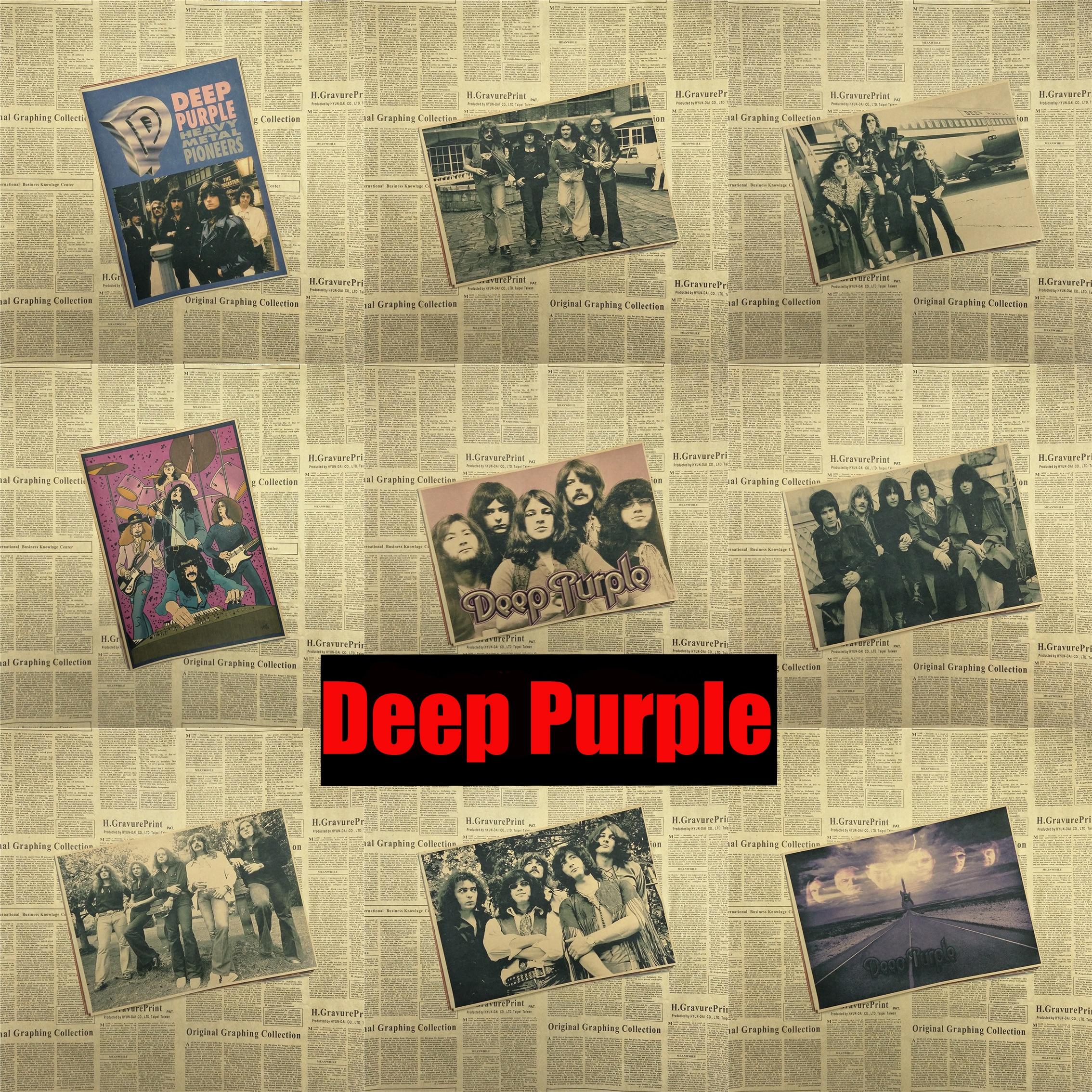 Deep Purple Home Furnishing decoration Kraft acid rock music Poster ...