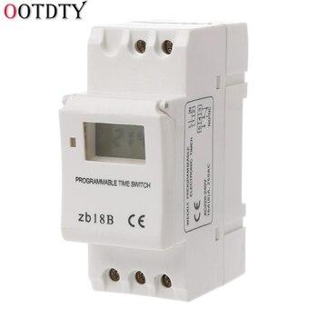 OOTDTY microordenador electrónico semanal temporizador Digital programable interruptor tiempo relé Control 220V AC 16A Din Rail Mount