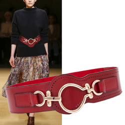 New Cummerbunds belt Women's  layer pure leather belt with waist wide take lead  cultivate morality show thin  wide fashion