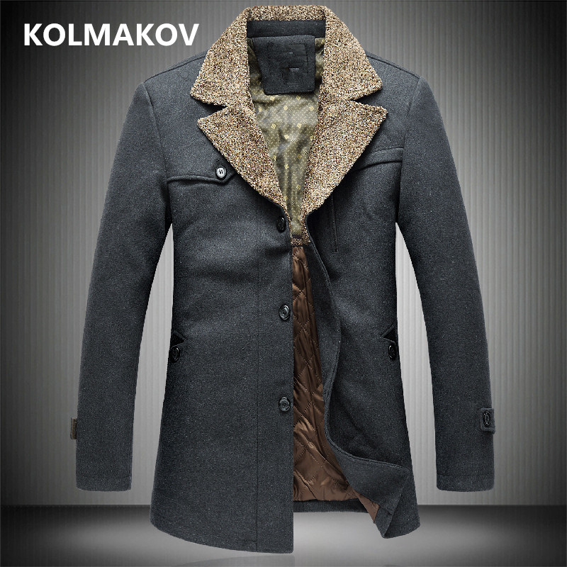 New Mens Autumn Winter Thicken Woolen Coats Wool Jackets Fashion Men Coat 2018 Mens Trench Coat Slim Large Size 4xl-6xl,7xl,8xl Good Companions For Children As Well As Adults Wool & Blends Back To Search Resultsmen's Clothing