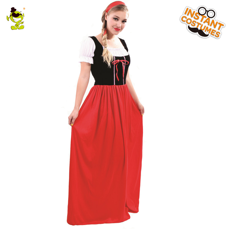Adults Renaissance Costume Medieval Lady's Red Princess Fancy Dress Party Costumes