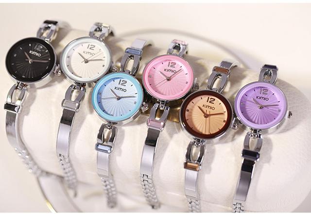 Kimio Top Brand Luxury Women Quartz Watch Ladies Stainless Steel Analog Bracelet Watches Female Montre Femme Relogio Feminino