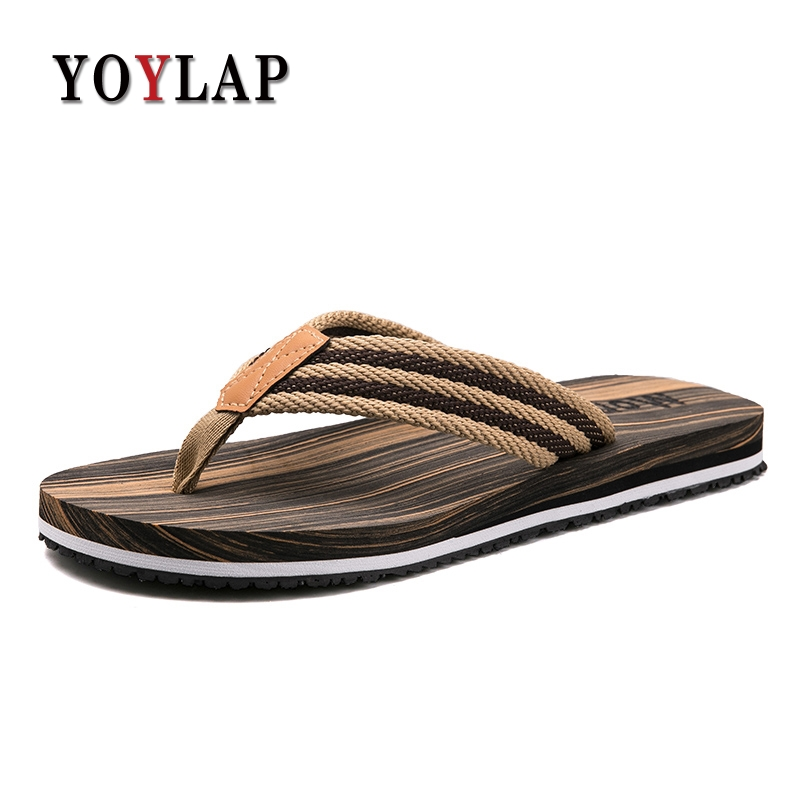 NEW 2018 Beach Casual Slippers Mens Flip Flops Summer Sandals Men Sandalias dreamshining female summer fruit sandals party sandals beach slippers sandalias watermelon orange pitaya kiwi