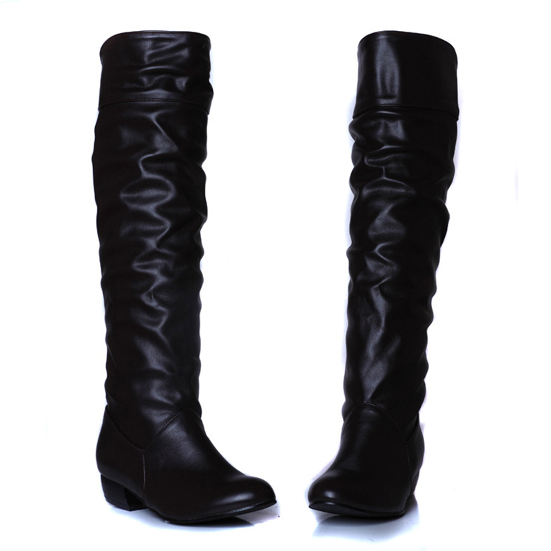 Knee High Women Boots Rubber Women Shoes Female Waterproof Brand Knight Riding Boots scoyco motorcycle riding knee protector extreme sports knee pads bycle cycling bike racing tactal skate protective ear