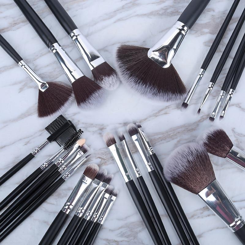 24 Pcs Litchi Pattern Makeup Brushes Set Blusher Eye Shadow Brow Lip Powder Foundation Make Up Brush Kit Beauty Essentials
