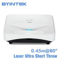 BYINTEK LW300UST Ультра короткие пледы лазерной 1280x800 DLP видео Full HD 1080 P проектор для домашнего образования Бизнес Офис сзади плёнки