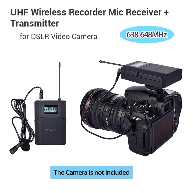 70m 638 648mhz wireless microphone 6 channel professional uhf system for dslr camcorder recorder. Black Bedroom Furniture Sets. Home Design Ideas