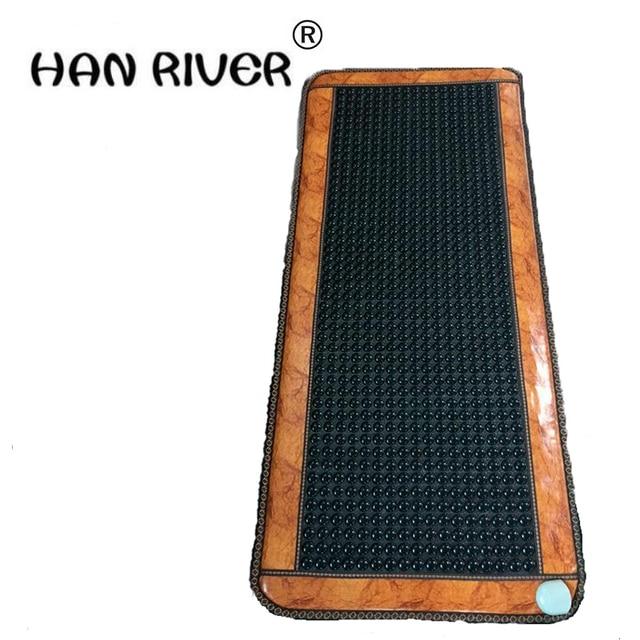 Haute Qualité Jade tourmaline matelas bambou en fiber de carbone coussin jade matelas jade coussin électrique chauffée 70X160 CM pour vente