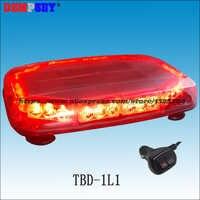 TBD-1L1 Wysokiej jakości Czerwona DIODA mini lightbar, Samochodu ratownictwa pożarowego migające światło ostrzegawcze, 12 V awaryjne światła, ciężki podstawa magnetyczna