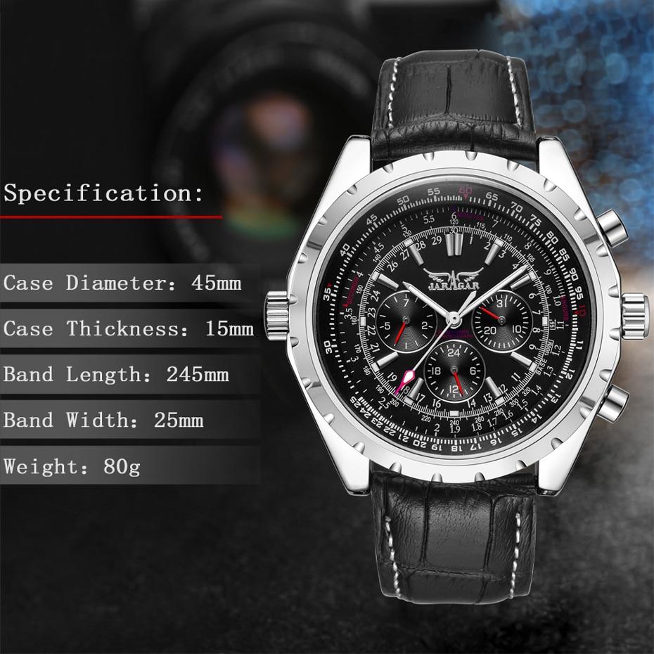 HTB1wS37elnTBKNjSZPfq6zf1XXag JARAGAR Top Luxury Brand Men Watch Mens Fashion Mechanical Watches Man Casual Business Waterproof Wristwatch Relogio Masculino