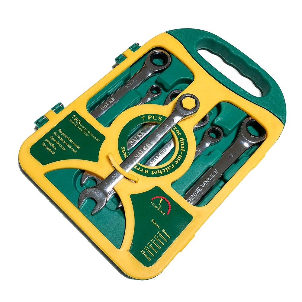 7 db racsnis kulcs, automatikus javító szerszámkészlet, nyitott - Kézi szerszámok - Fénykép 2