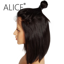 """ALICE 150 Density Short Bob Lace Front Wig Bleached Knots 10"""" 12""""  Remy Hair Brazilian Human Hair Wigs For Black Women"""