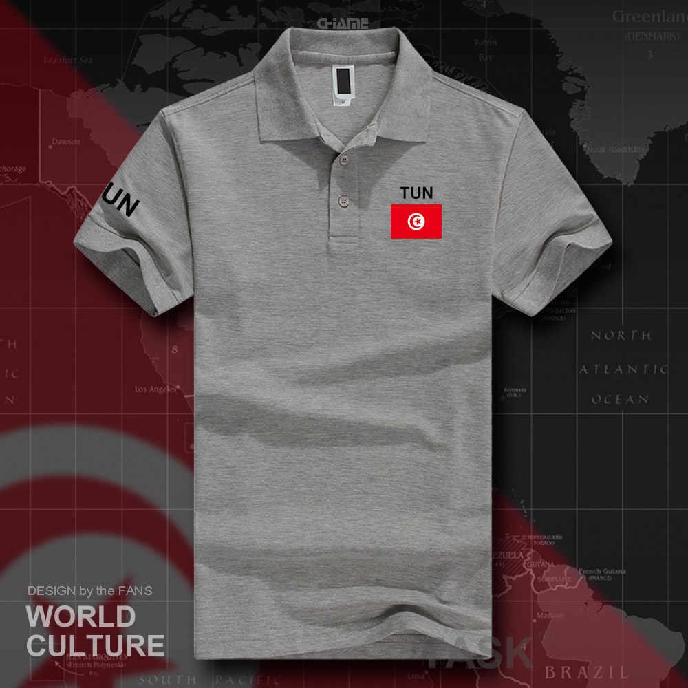 Camisetas polo tunecina para hombre de manga corta marcas blancas estampadas para país 2017 bandera del equipo de la nación TUN árabe Tunisie