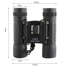 Mini Hd Wide-angle Binoculars Telescope 12X30 Portable Red Membrane Optics Binocular hunting Mini Telescope Luneta Binoculos