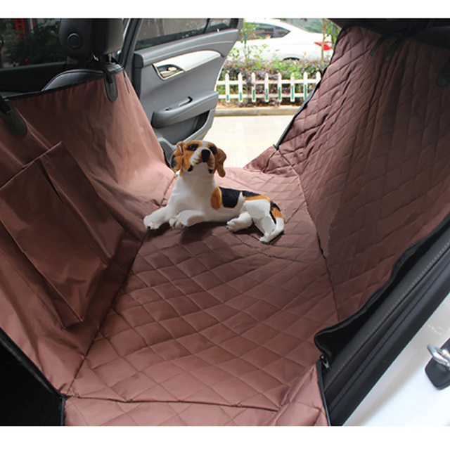 Nylon Pet Car Seat Covers Windproof Puppy Dog Cat Back Bench Interior Travel Accessories