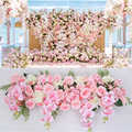 35/100cm DIY wedding flower wall arrangement supplies silk peonies rose artificial flower row decor wedding iron arch backdrop