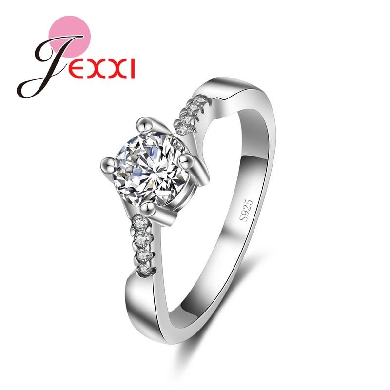 Gran llanura de plata esterlina 925 anillo de la joyería de diseño de onda