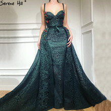 Green Sexy Evening Dresses Lace Mermaid Evening Serene Hill