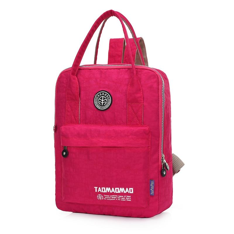 ქალთა ზურგჩანთა მაღალი ხარისხის ნეილონის სკოლის ჩანთა mochila feminina back pack pack rucksack