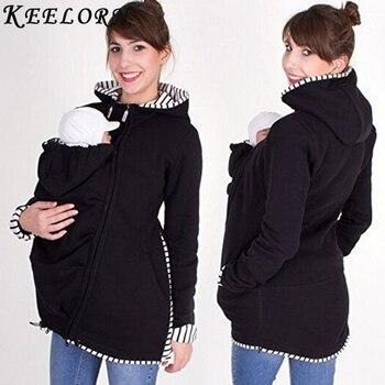 bbf21fc67 Keelorn maternidad abrigos chaqueta de invierno para las mujeres embarazadas  ropa de manga larga sólido traer niños trajes ropa chaquetas